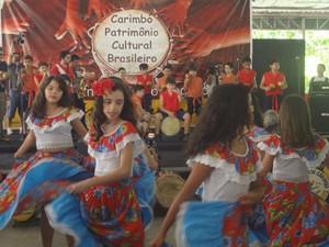 Carimbó, ritmo que é símbolo do Pará (Foto: Luana Laboissiere / G1)