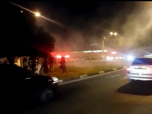 Manifestação de alunos em Campinas termina em confusão  (Foto: Reprodução / EPTV)