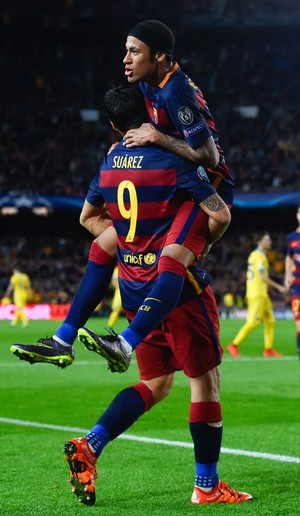 Neymar Suárez Barcelona Bate (Foto: Getty Images)