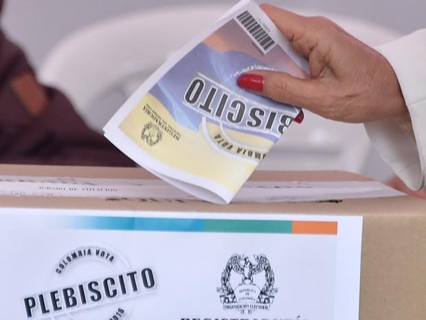 Eleição ocorre na Colômbia, neste domingo (2). (Foto: AFP)