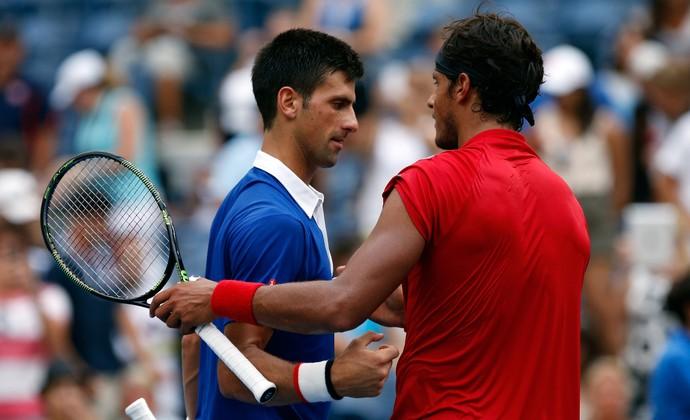 Novak Djokovic vence João Souza, o Feijão, no US Open (Foto: Getty Images)