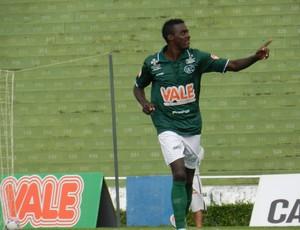 Leonardo, do Uberlândia Esporte, faz primeiro gol na Taça Minas, mas é anulado (Foto: Felipe Santos/GLOBOESPORTE.COM)