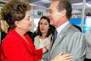 Dilma Rousseff e Renan Calheiros (Foto: Divulgação)