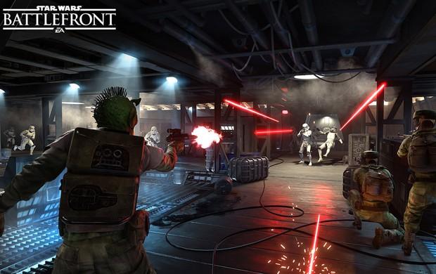 'Star Wars Battlefront' pode ser jogado em perspectivas diferentes, em 1ª e 3ª pessoas (Foto: Divulgação/Electronic Arts)