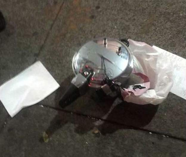 Artefato não chegou a explodir; bomba feita com panela de pressão foi usada em ataque duplo a evento esportivo em 2013 (Foto: BBC)