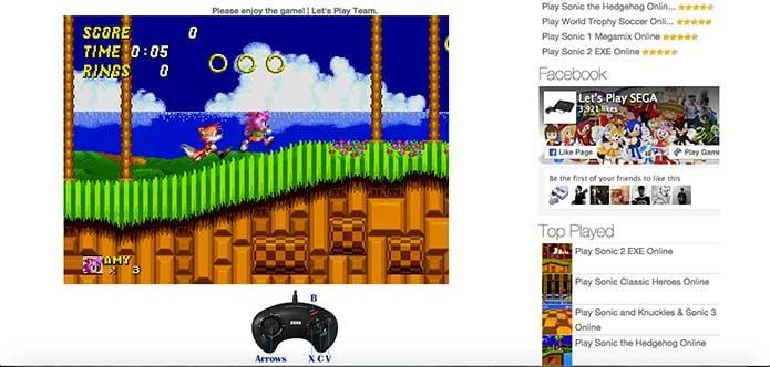 O game de Mega Drive vai rodar no seu navegador (Foto: Reprodução/Felipe Vinha)