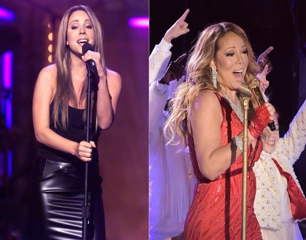 Mariah Carey gahou mais de 30 quilos quando ficou grávida e ficou bastante diferente de seu visual pré-gravidez. (Foto: Getty Images)