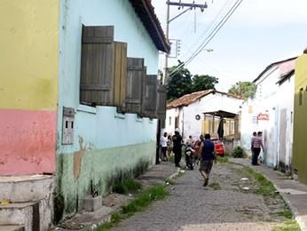 Beco do Candeeiro em Cuiabá (Foto: Tita Mara Teixeira/G1)