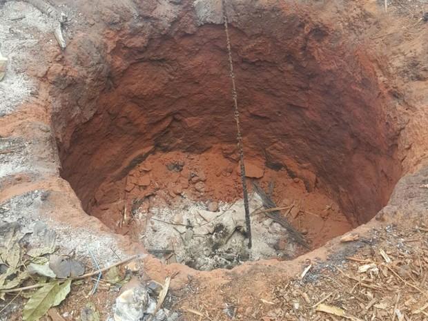 Local onde o menino caiu na zona rural de Wanderlândia (Foto: Divulgação)
