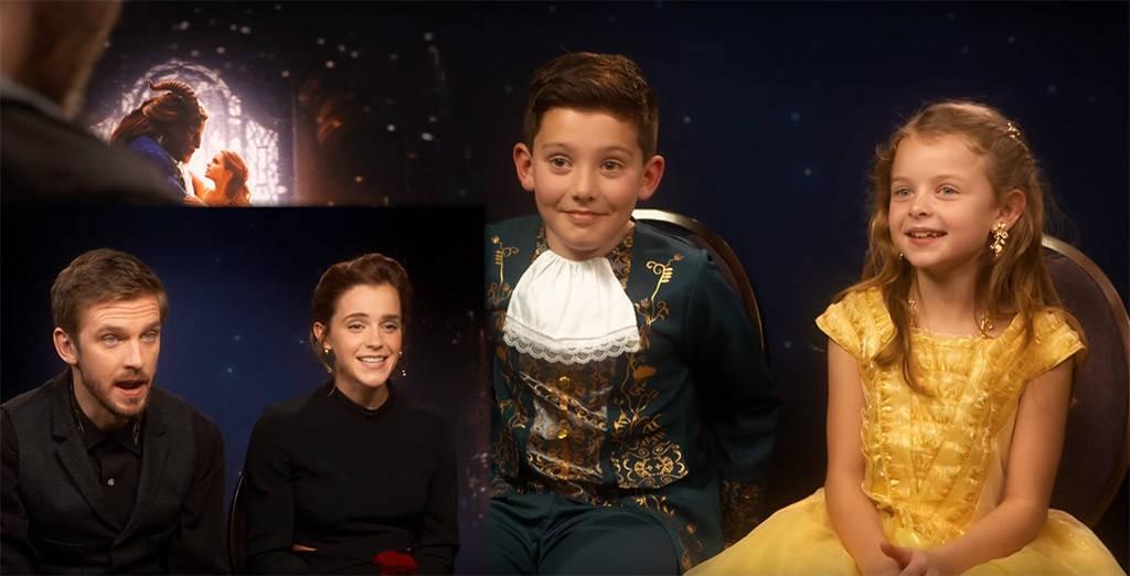 Os atores e seus entrevistadores (Foto: Reprodução/Youtube)