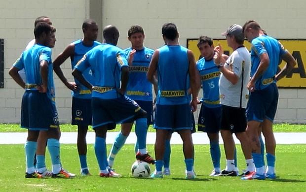 Oswaldo de oliveira botafogo treino (Foto: Thales Soares / Globoesporte.com)