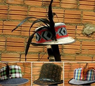 Chapéus feitos pelo artesão custam em média R$ 98 (Foto: Divulgação/Du E-Holic)