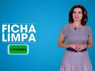 Fátima Bernardes incentiva o voto em candidatos ficha limpa em campanha da Rede Globo (Foto: TV Globo)