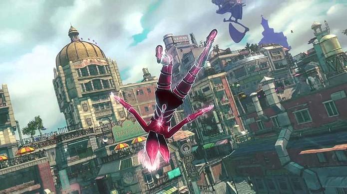 O mundo aberto de Gravity Rush Remastered inicialmente não chama tanta atenção até se unir aos inusitados poderes de Kat para explorá-lo (Foto: Reprodução/YouTube)