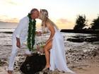 Kadu Moliterno e Cristianne Rodriguez se casam pela segunda vez no Havaí