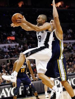 basquete nba tony parker spurs utah jazz (Foto: Agência Reuters)