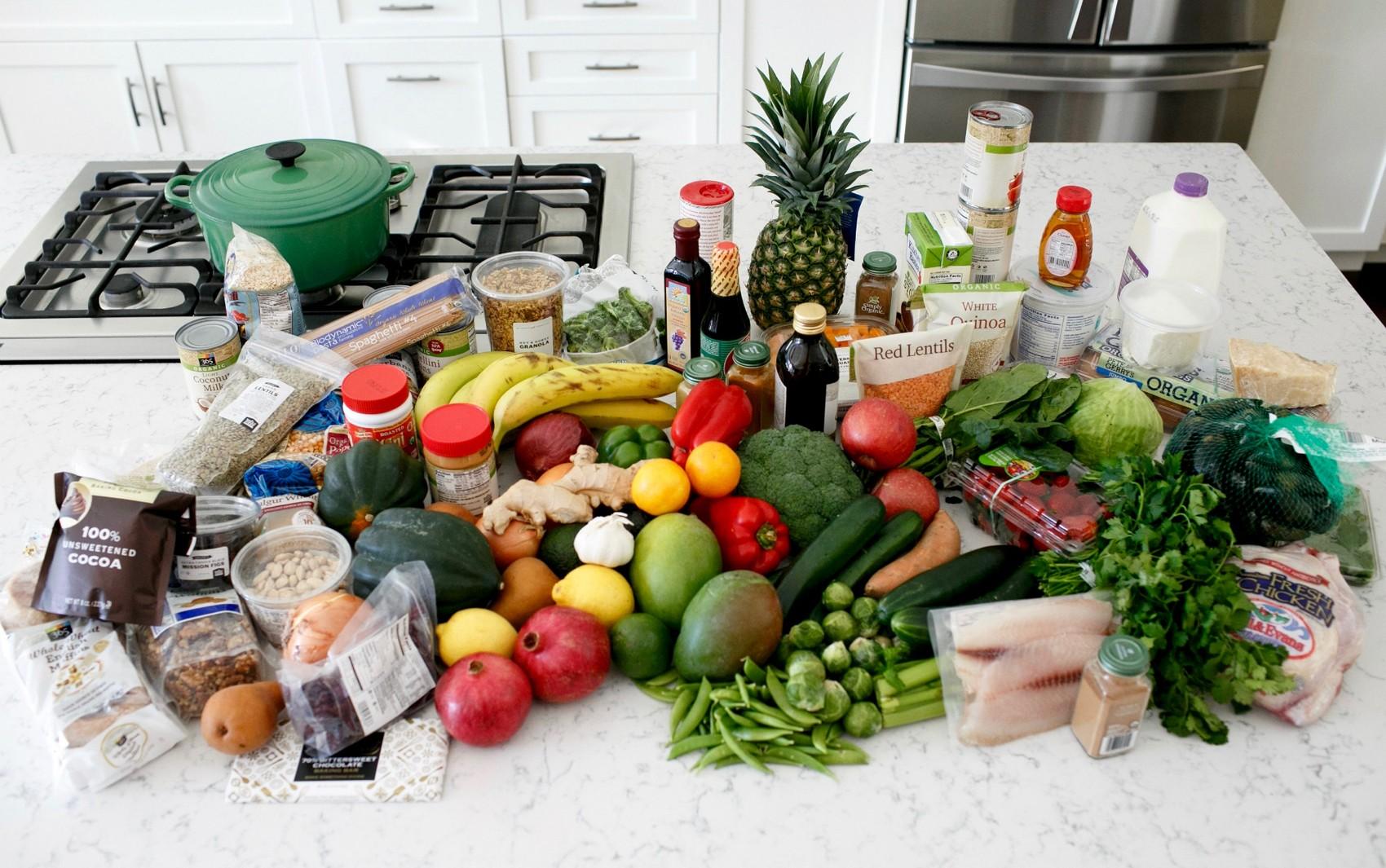 Alimentação saúdável, frutas, legumes, verduras, grãos, vegetais, dieta, refeição, refeições, cozinha