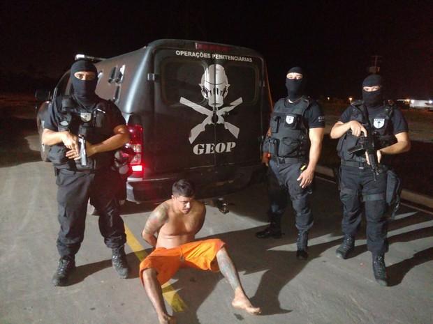 Detento foi recapturado em invasão próxima ao Complexo de Pedrinhas (Foto: Geop / Divulgação)