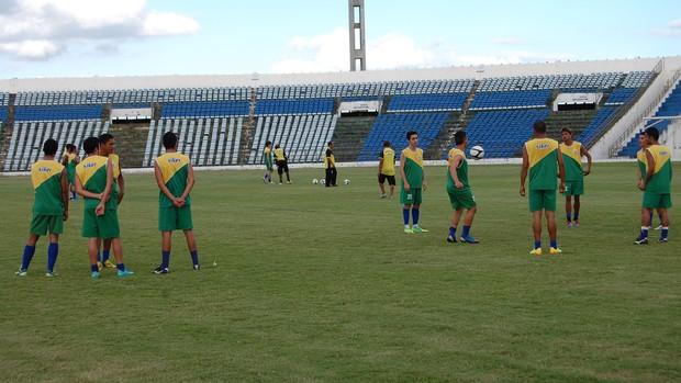 Treino Sport Campina no Amigão (Foto: Silas Batista / Globoesporte.com/pb)