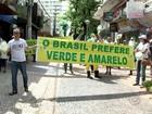 Manifestantes fazem caminhada no Centro de Rio Preto contra corrupção