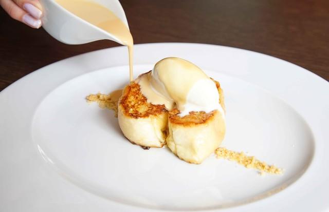 Rabanada especial tem sorvete e doce de leite (Foto: Divulgação)