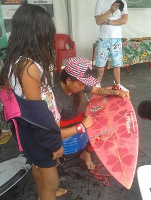 Pam, Silvana Lima, surfe (Foto: Thaís Jorge)