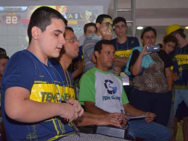 Gabriel fica concentrado durante luta no TEM GAMES (Foto: Fábio Molina/Arquivo pessoal)
