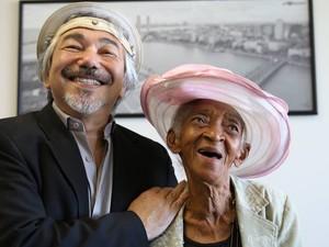 Santanna e Dona Glorinha são homenageados do São João do Recife (Foto: Marcos Pastich/PCR)