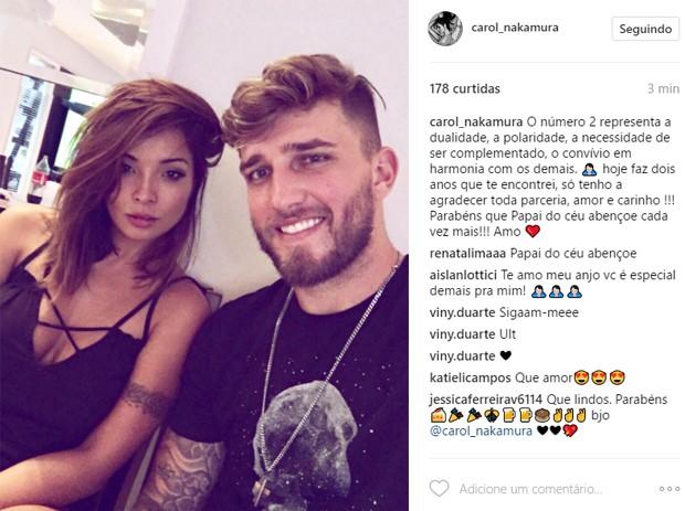Carol Nakamura e Aislan Lottici (Foto: Reprodução/Instagram)
