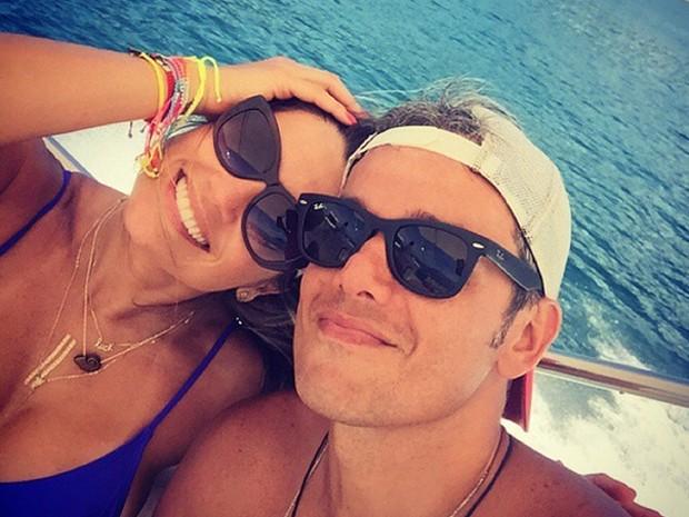 Otaviano Costa e Flávia Alessandra curtem momento de lazer (Foto: Arquivo pessoal)
