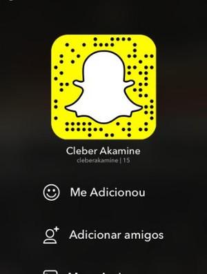 Snapchat Cleber Akamine