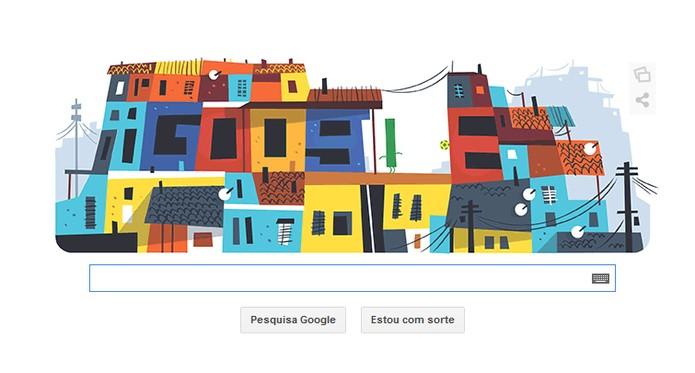 Favela do Rio de Janeiro é representada em Doodle do Google (Foto: Reprodução/Google)