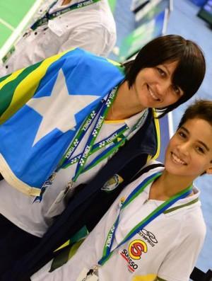 Norma ao lado de Fabrício Faria campeão sul americano sub-13 (Foto: Reprodução/ Facebook)