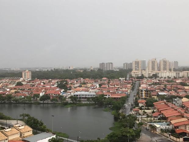 Sábado começa chuvoso em Fortaleza; desde sexta-feira, chove em mais de 40 cidades no Ceará  (Foto: Kalina Brito/Arquivo pessoal)