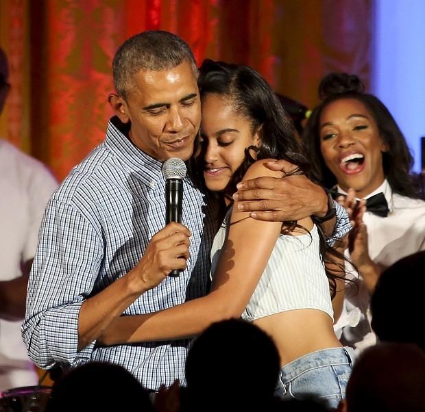 Barack Obama com sua filha Malia (Foto: Getty Images)