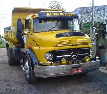 Um dos caminhões roubados foi recuperado (Foto: Assessoria/ Polícia Civil-MT)