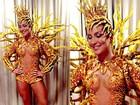 Veja fotos de Claudia Leitte na Sapucaí, como rainha de bateria da Mocidade de Padre Miguel