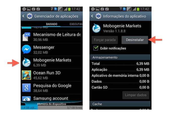 Desinstalando o Mobogenie do Android (Foto: Reprodução/Marvin Costa)