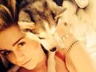 De lingerie, Miley Cyrus diz: 'A melhor parte do meu dia'