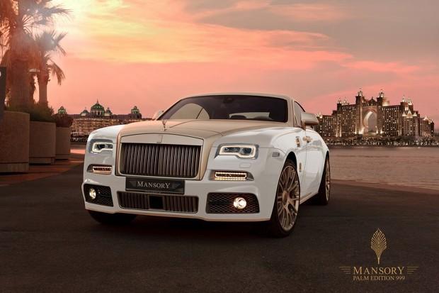 """Rolls Royce Wraith em versão """"banhada a ouro"""" da Mansory (Foto: Divulgação)"""