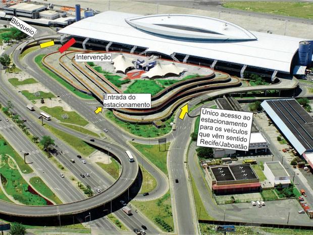 aeroporto - [Brasil] Pista do aeroporto do Recife é fechada para instalação de passarela Passa_editada