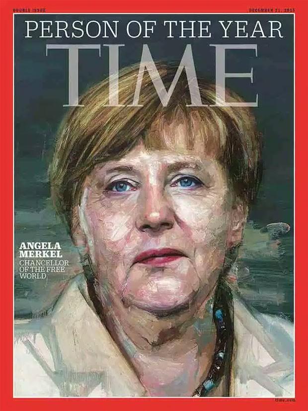 A chanceler da Alemanha, Angela Merkel, foi eleita a pessoa do ano de 2015 pela revista Time (Foto: Reprodução/ TIME)