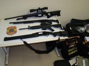 Armas pertenciam a grupo de extermínio desmontado pela operação Hecatombe no RN (Foto: Divulgação/Polícia Federal)