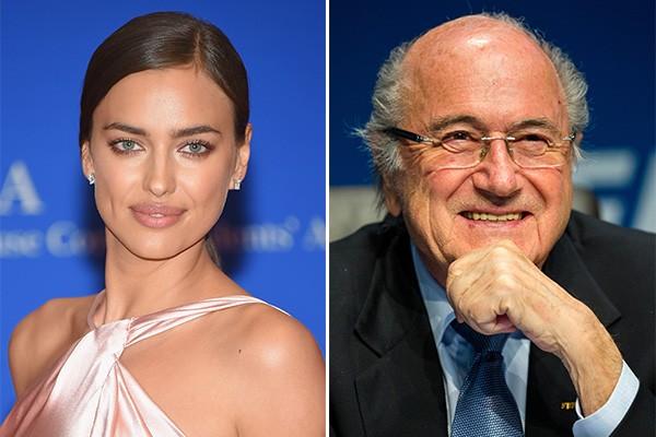 Irina Shayk e Joseph Blatter (Foto: Getty Images)