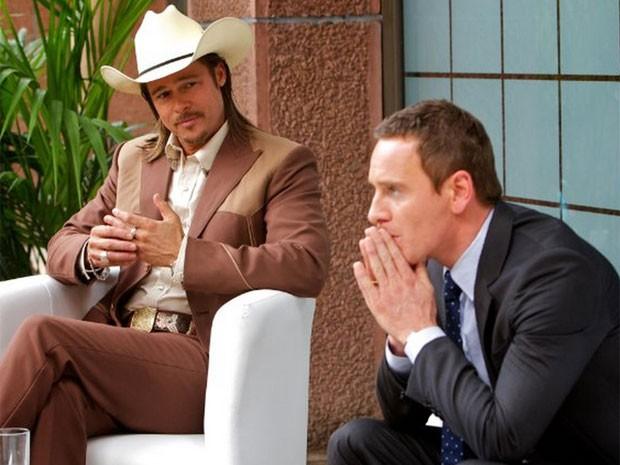 Brad Pitt e Michael Fassbender em cena de 'O conselheiro do crime', dirigido por Ridley Scott e escrito por Cormac McCarthy (Foto: Divulgação)