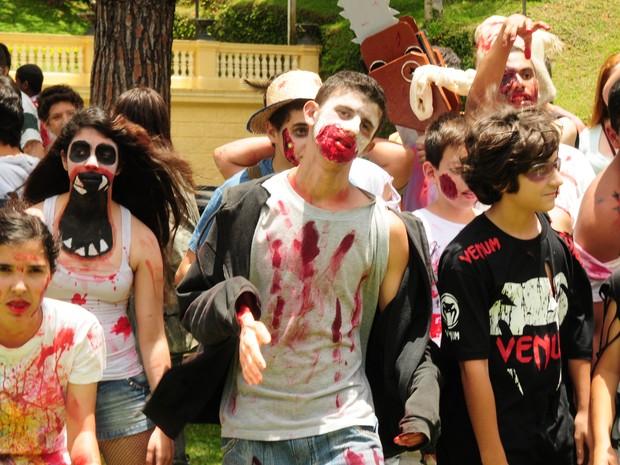 Zombie Walk em Petrópolis (Foto: Alexandre Carius/Tribuna de Petrópolis)