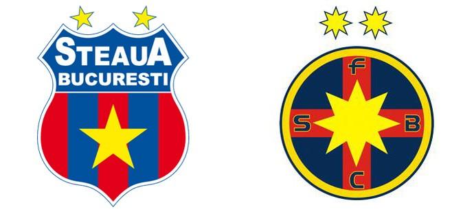 montagem escudos Steaua Bucareste (Foto: Divulgação)