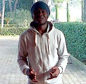 joseph minala jogador Lazio (Foto: Reprodução / Twitter)