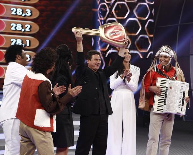 Anunciato Rodrigues vence Os Imitadores (Foto: Inácio Moraes / TV Globo)
