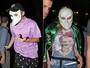 Madonna usa máscaras com os filhos para curtir espetáculo na Broadway